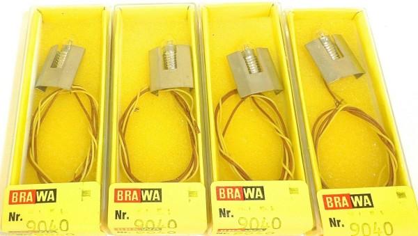 4 Stück Birne mit Fassung Gleisbild Stellwerk Zubehör BRAWA 9040 OVP NEU #LJ2 å