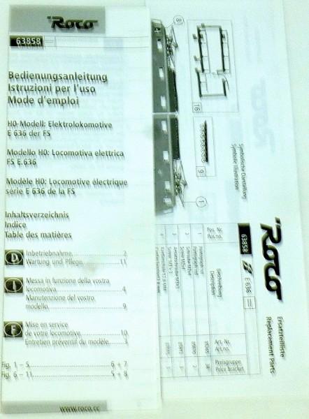 FS E636.193 Elektrolok EpIV DSS Roco 63858 H0 1:87 OVP KB2 µ *