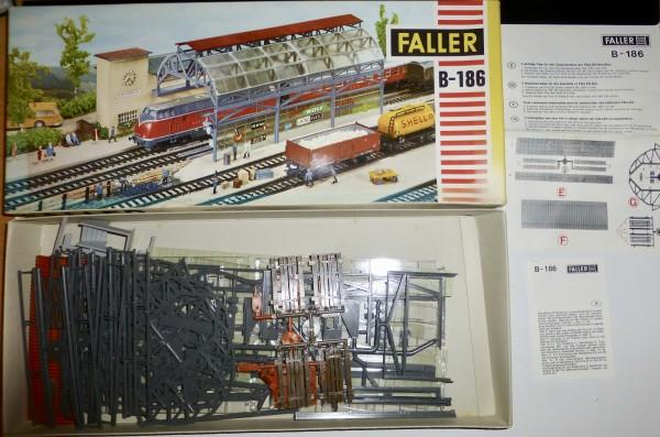 Faller B-186 AMS Bahnhofshalle ungebaut OVP H0 1:87 HC5 å