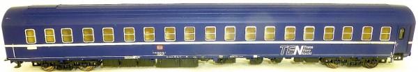 TEN Schlafwagen WLABsm TS2 blau altes Logo DB EpIV HERIS 11018 H0 1:87 HR4 å *