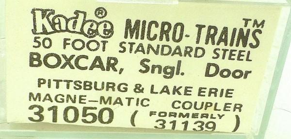50´ Standard Boxcar PITTSBURGH ERIE 23029 Micro Trains Line 31050 N 1:160 C å*