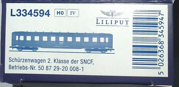 SNCF Schürzenwagen 2te Kl 50 87 29-20 008-1 Ep4 Liliput L334594 H0 1:87 OVP *
