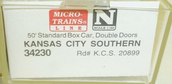 Micro-Trains Line 34230 Kansas City Southern 50' Standard Box Car N 1:160 A å *