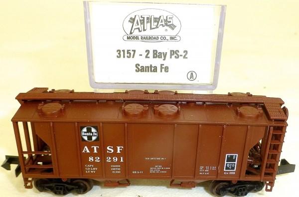 Santa 2 Bay PS-2 Güterwagen US ATLAS 3157 N 1:160 OVP å *