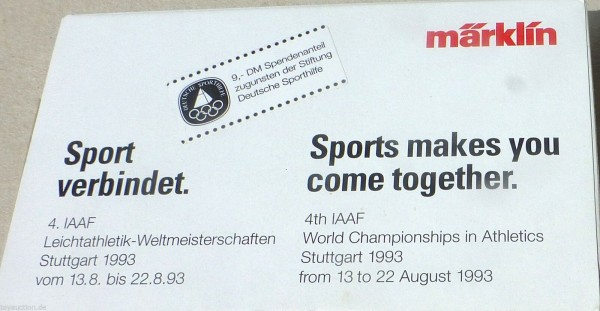 IAAF 1993 Stuttgart Containerwagen Märklin Spur Z 1:220 OVP å