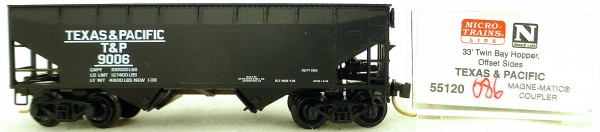 Micro Trains Line 55120 Texas&Pacific 9006 33' Twin Bay Hopper OVP 1:160 #K086 å
