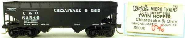 Micro Trains Line 55030 C & O 52546 33' Twin Bay Hopper OVP 1:160 #K076 å