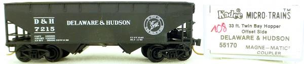 Micro Trains Line 55170 Delaware Hudson 7215 33' Twin Hopper OVP 1:160 #K108 å
