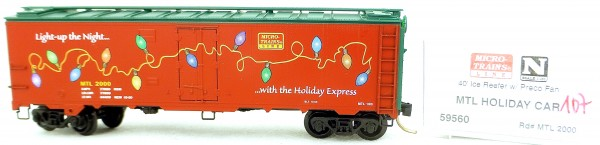Micro Trains Line 59560 MTL Holiday Car 2000 40' Steel Ice Reefer 1:160 OVP #i107 å