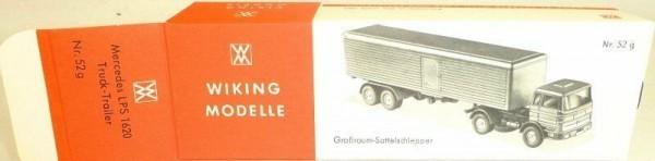 52g Großraum Sattelschlepper Mercedes LPS 1620 Wiking Karton leer å *
