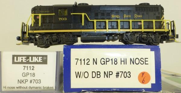 Life Like 7112 Nickel Plate Road 703 GP18 Hi Nose Diesellok N 1:160 OVP Y6 å *
