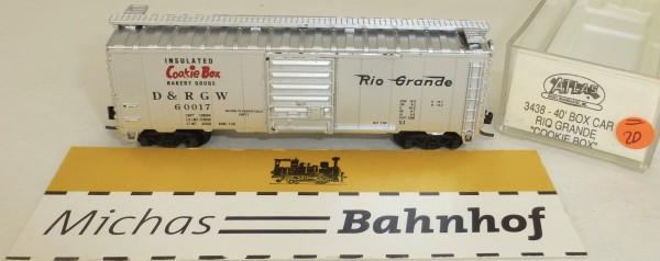 Cookie Box Rio Grande 60017 40' Box Car Atlas 3438 N 1:160 #=20/23 å