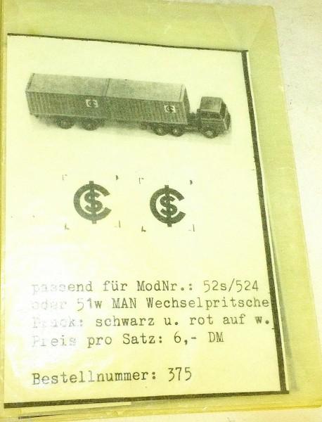 SC SMO 375 Aufkleber für WIKING 52s 524 51w å*