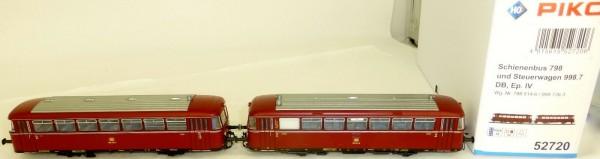 Schienenbus 798 + Steuerwagen 998.6 EpIV PluX22 PIKO 52720 H0 1:87 OVP HA2 å *