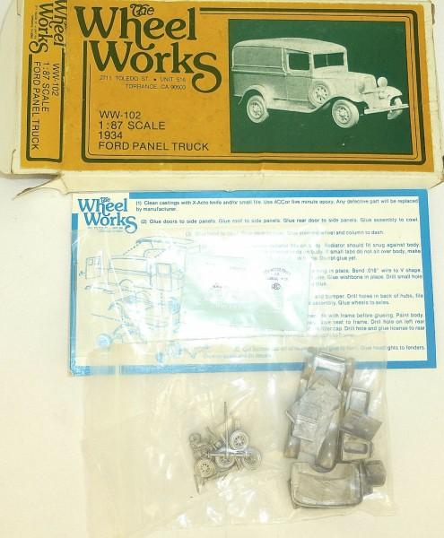 Ford Panel Truck 1934 Bausatz ungebaut The Wheel Works WW-102 H0 1:87 OVP å *
