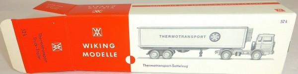 Thermotransport Truck Trailer Sattelzug Karton leer Wiking 52k å *
