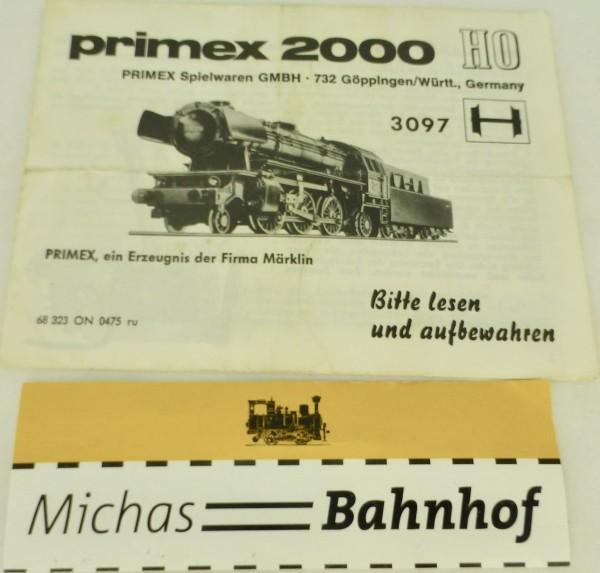 Primex 2000 Anleitung 3097 Märklin 68 323 ON 0475 ru H0 å