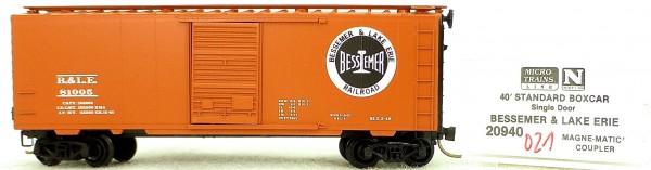 Micro Trains Line 20940 Bessemer 81005 40' Standard Boxcar 1:160 OVP #H021 å