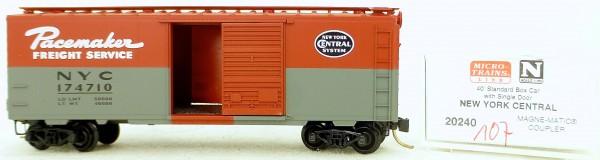 Micro Trains Line 20240 New Yorck Central 174710 40' St. Boxcar 1:160 OVP #H107 å