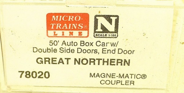 Micro Trains Line 78020 Great Northern 35449 50´ Box Car 1:160 OVP #E å *