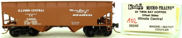 Micro Trains Line 55240 Illinois Central 74825 33' Twin Hopper OVP 1:160 #K102 å