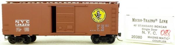Micro Trains Line 20380 N.Y.C. 174370 40' St. Boxcar 1:160 OVP #H088 å