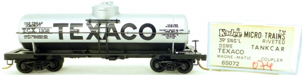 Micro Trains Line 65072 TEXACO 1102 39' Single Dome Tank Car 1:160 OVP #i074 å