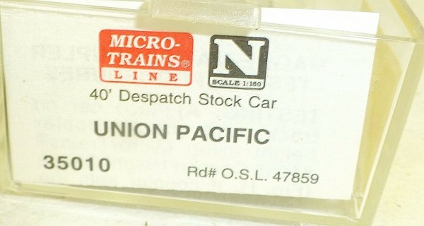 Micro-Trains Line 35010 Union Pacific 50' Standard Box Car N 1:160 A å *