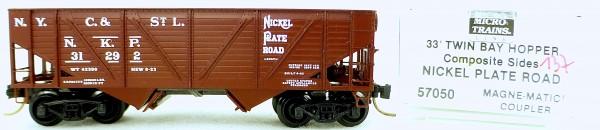 Micro Trains Line 57050 Nickel Plate Rd 31292 33' Twin Bay Hopper 1:160 OVP #i137 å