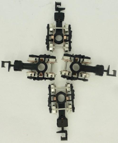 4 x Drehgestell 2-achsig Ersatzteil IMU N 1:160 LF2 å