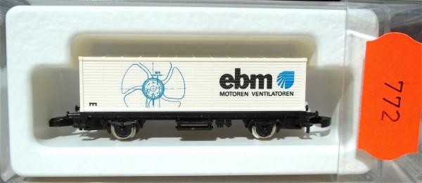 EBM Ventilatoren Containerwagen Kolls 93708 Märklin 8615 Spur Z 1/220*772* # å