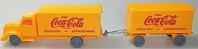 Coca Cola Magirus Rundhauber Hängerzug orange orange IMU H0 1:87 #58 å