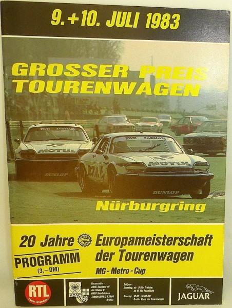 9. + 10. Juli 1983 Grosser Preis Tourenwagen Nürburgring PROGRAMMHEFT å VIII03 *