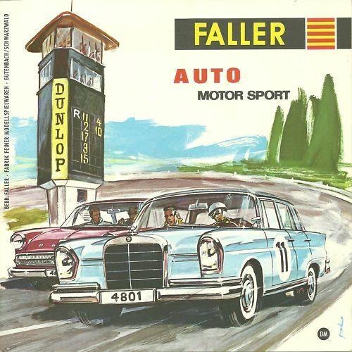 Faller AMS Prospekt Faltblatt Auto Motor Sport