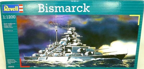 Bismarck Bausatz 1:1200 REVELL 05802 NEU UV2 å *