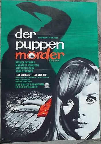der puppen mörder the psychopath Filmplakat