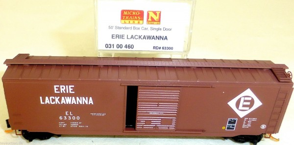Erie Lackawanna 50 Standard Box Car Single Door MTL 03100460 N 1:160 OVP HU3 å *