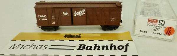 CB & Q 11106 40' Outside Braced Box Car Micro Trains Line 29060 1:160 P66 å