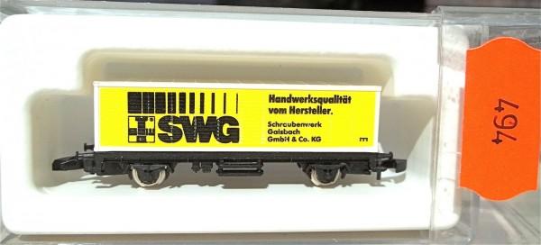 SWG Schrauben Containerwagen Kolls 89704 Märklin 8615 Spur Z 1/220 *494* # å