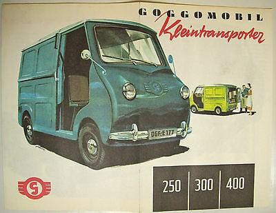 Prospekt Goggomobile Kleintransporter 250 300 400 å