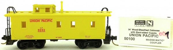 Micro Trains Line 50100 UP 3232 34' Wood Sheathed CABOOSE 1:160 OVP #K001 å