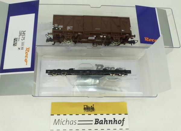 Schmalspur Rollwagen beladen mit Gs ÖBB EpIV Roco 34575 H0e 1:87 NEU HC5 µ