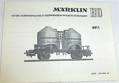 4911 Anleitung Märklin 68 491 AN 0461 ka