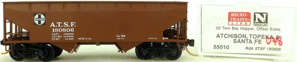 Micro Trains Line 55010 A.T.S.F. 180806 33' Twin Hopper OVP 1:160 #K078 å