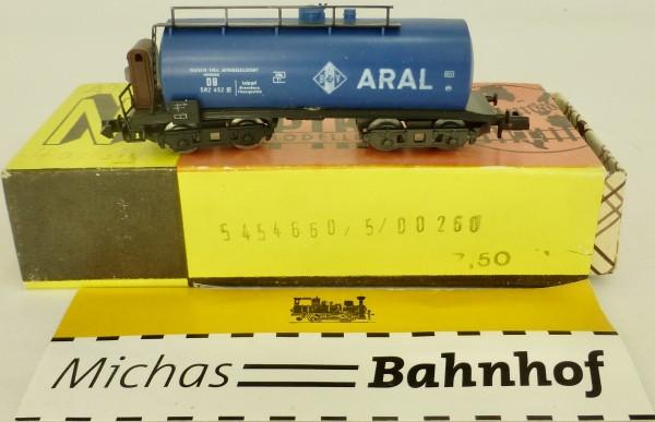 ARAL Kesselwagen blau 4-achs Bremserhaus Piko DDR N 1:160 HR2 å