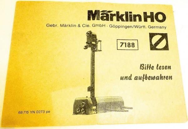 7188 Märklin Anleitung 68 715 YN 0273 pe å