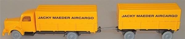 Pritschen Mercedes 5000 Hängerzug Jacky Maeder Aircargo IMU H0 1:87 #88# å
