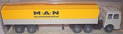 MAN Pritsche Sattelzug gelb WERBEMODEL WIKING 1/87