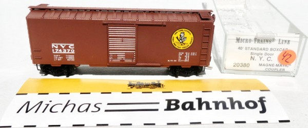 NYC 174370 40´ Boxcar Micro Trains Line 20380 N 1:160 OVP ∆42 å