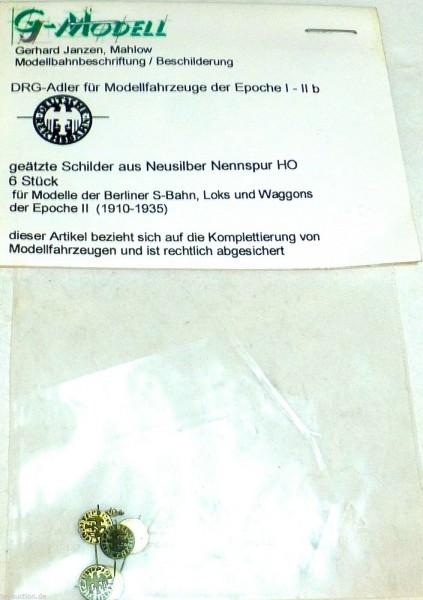 DRG Adler Ep i bis IIb geätzt Neusilber 6 Stück G Modell Mahlow 1:87 H0 å